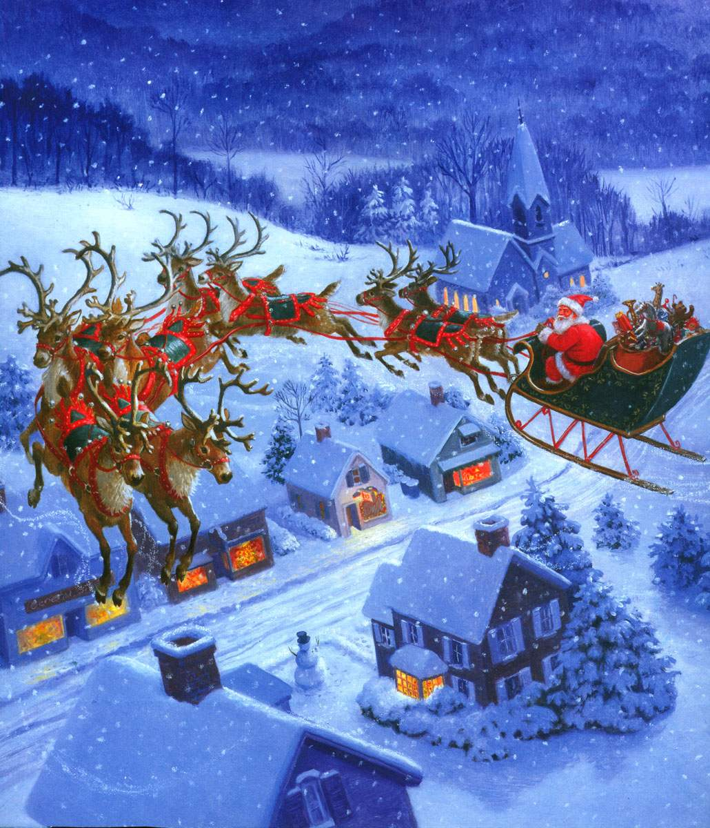 Santa-Claus-and-Flying-Reindeer-1-